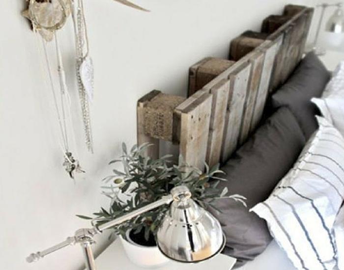 Cabecero de obra hecho con pallet /estilo nórdico by Habitan2