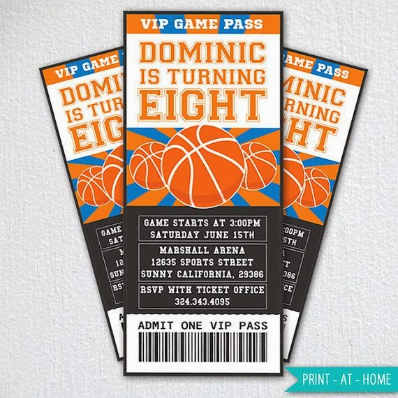 Giggle Bean basketball party invites – Basketball Party Invitations