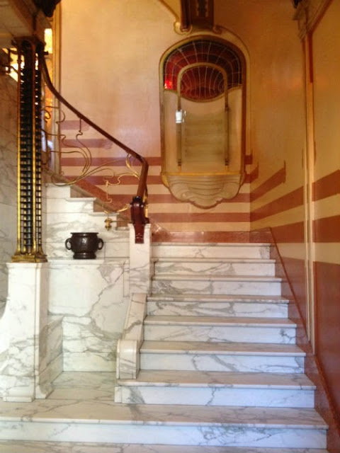 Victor Horta Museum in Brussels stair case