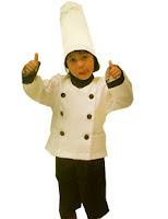 kostum profesi koki warna putih untuk anak anak