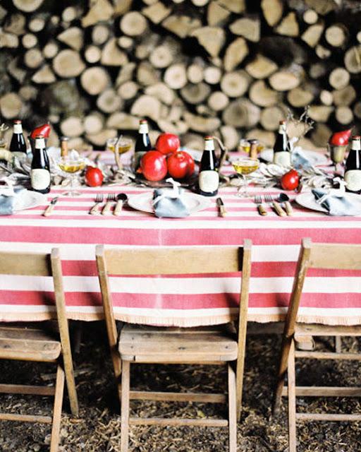 vintage rustic dinner set