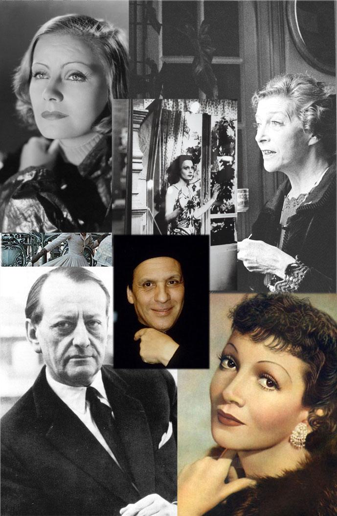 Greta Garbo, Louise de Vilmorin, Andre Malraux, Arletty in Alaia & Chaudette Colbert