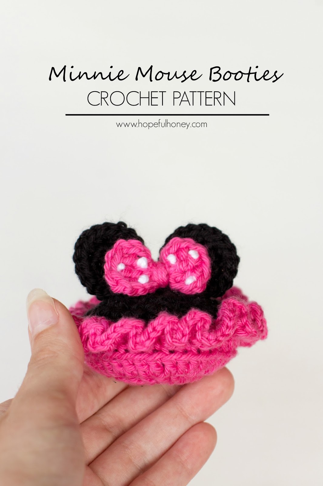 Crochet create minnie mouse inspired baby booties crochet pattern