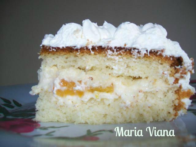 Top Bolo com pêssegos e glacê de leite em pó: Maria Viana - Espaço das  OQ49