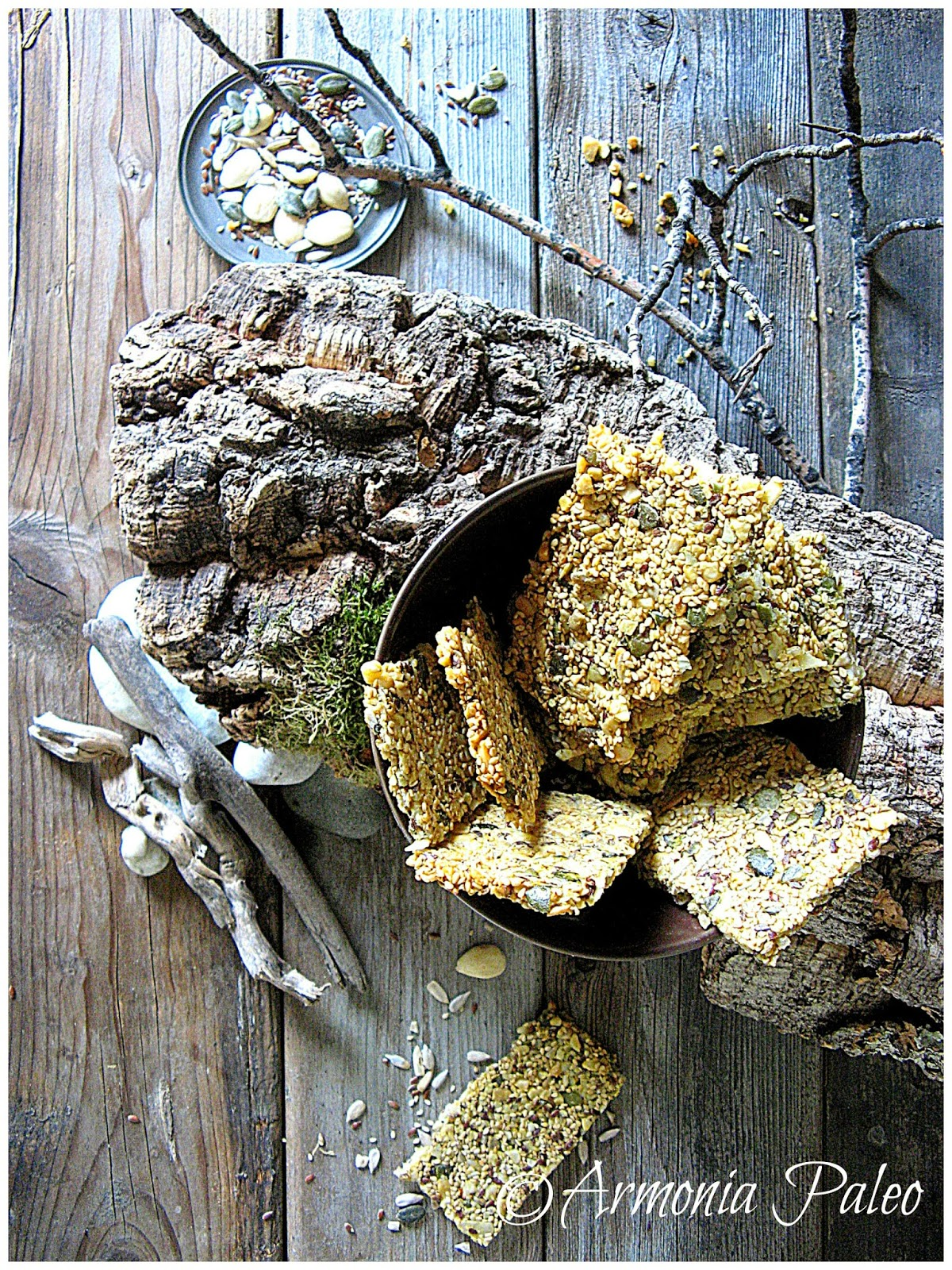 Knäckebröd - Paleo Pane Croccante Svedese di Armonia Paleo
