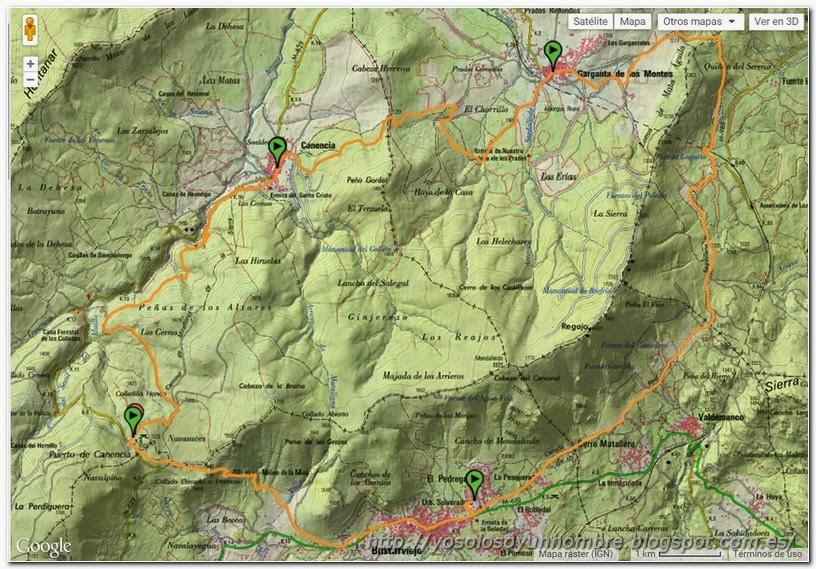 Mapa completo con los 4 tramos