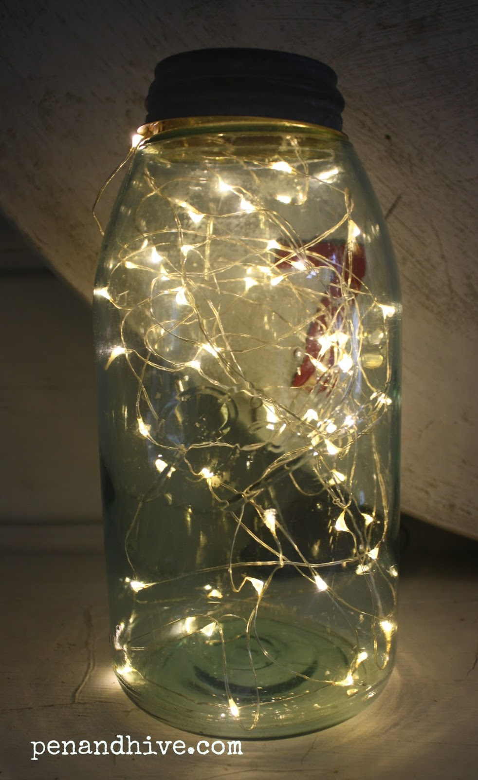 Ball Jar String Lights : Pen & Hive: How To Make a Firefly Lamp for Your Backporch or Patio