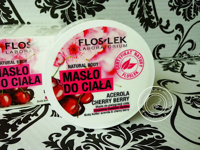 Floslek - natural body - masło do ciała - acerola & cherry berry - masło do pielęgnacji ciała - uzupełnia niedobór lipidów
