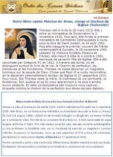 15 octombrie / Sfânta Tereza de Avila