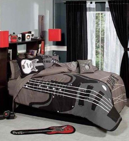 Rock N Roll Bedroom Decor