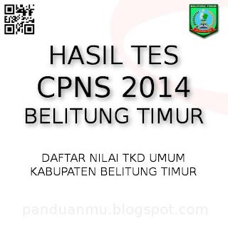 hasil tes CPNS Belitung Timur