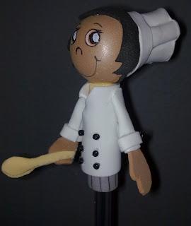 fofulapiz o fofulapices cocinero de goma eva