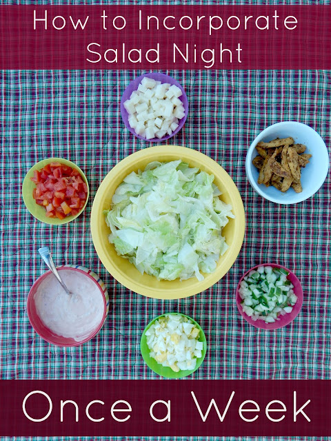 how to incorporate salad night once a week (sweetandsavoryfood.com)