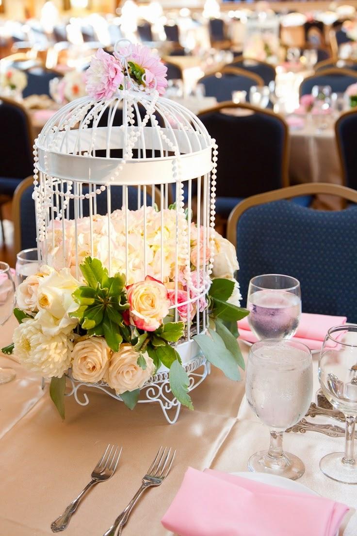 9 centros de mesa para bodas con jaulas - Decoracion para mesas de centro ...
