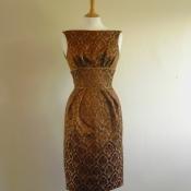 Walnut brocade dress