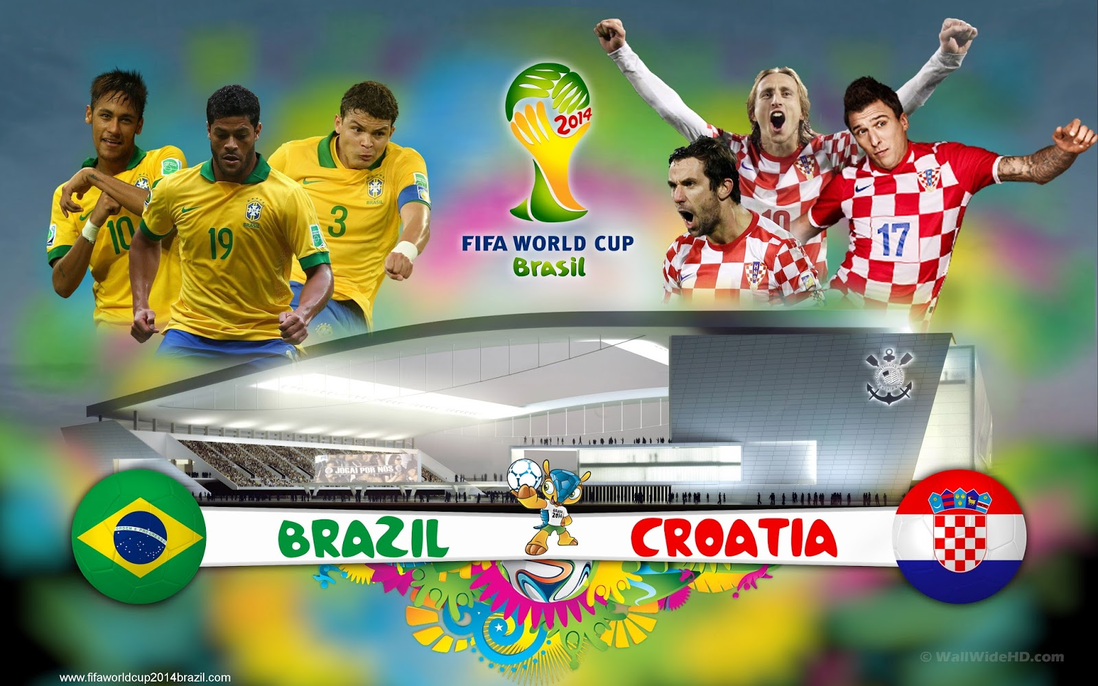 Brazil vs Croatia FIFA World Cup 2014 HD Wallpapers