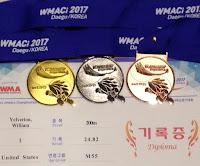 World Championship medals - Daegu, Korea 3/17  WMACi