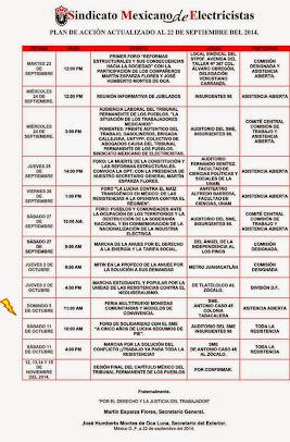 Plan de Accion Actualizado al 30 de Septiembre de 2014