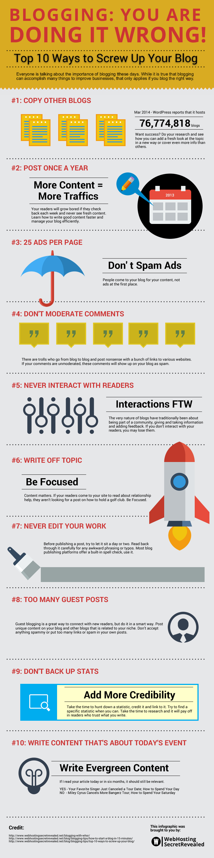 Top 10 Ways to Screw Up Your Blog - #infographic
