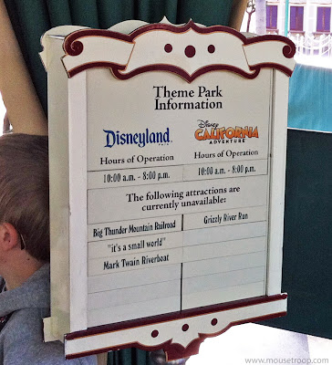 Disneyland Resort closed attractions sign refurbishment DCA