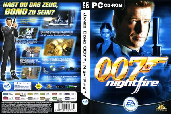 James Bond 007 Nightfire PC DVD Capa