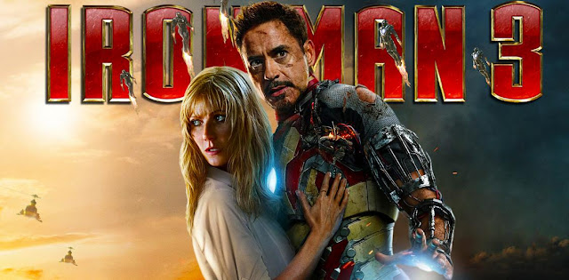 Tony Stark and Pepper Potts Iron Man 3 poster