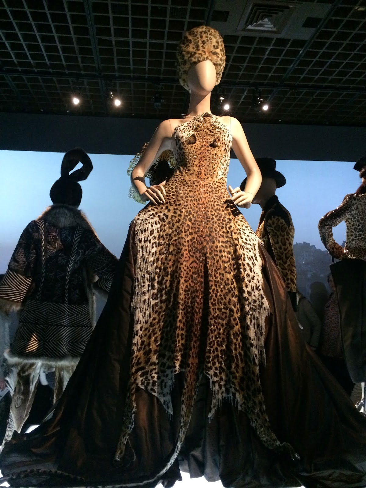 Animal print dress by Jean Paul Gaultier, Le Grand Palais, Paris