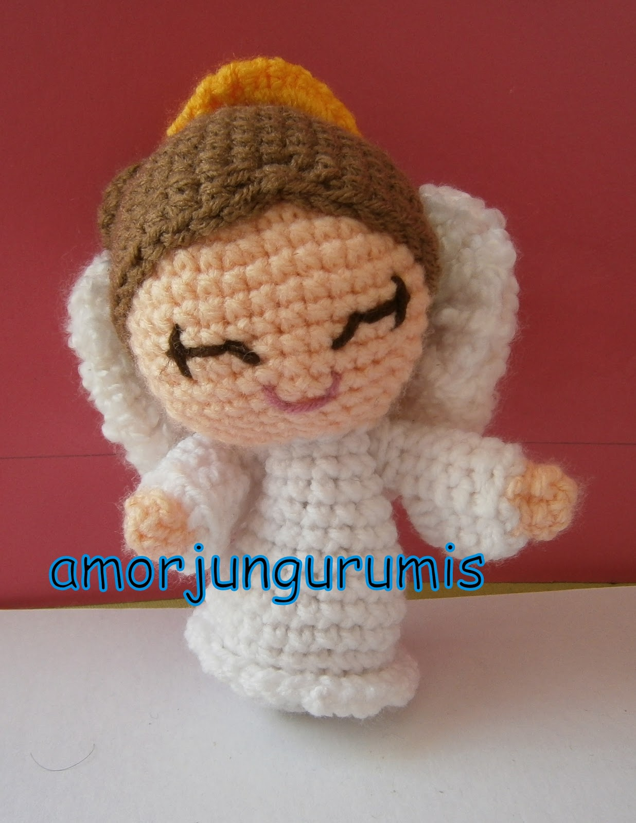 Amigurumi De Angel : AMORJUN...GURUMIS!: AMORJUNGURUMIS ANGEL AMIGURUMI
