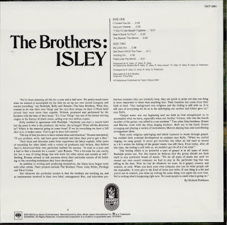 ISLEY BROTHERS - THE BROTHERS: ISLEY (T-NECK 1969) Jap mastering cardboard sleeve
