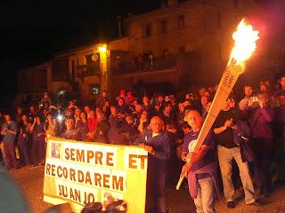 Homenatge a Juanjo Garra a les Falles de Vilaller 2013. (Alta Ribagorça)