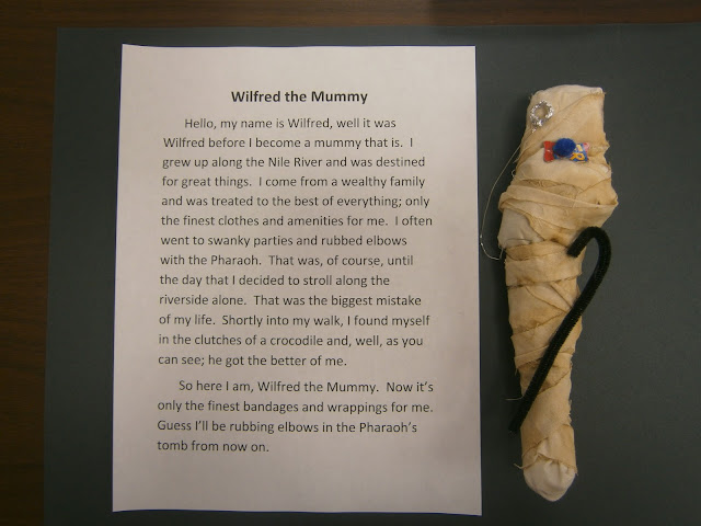 Egyptian Mummy Art Lesson Plan with Writing