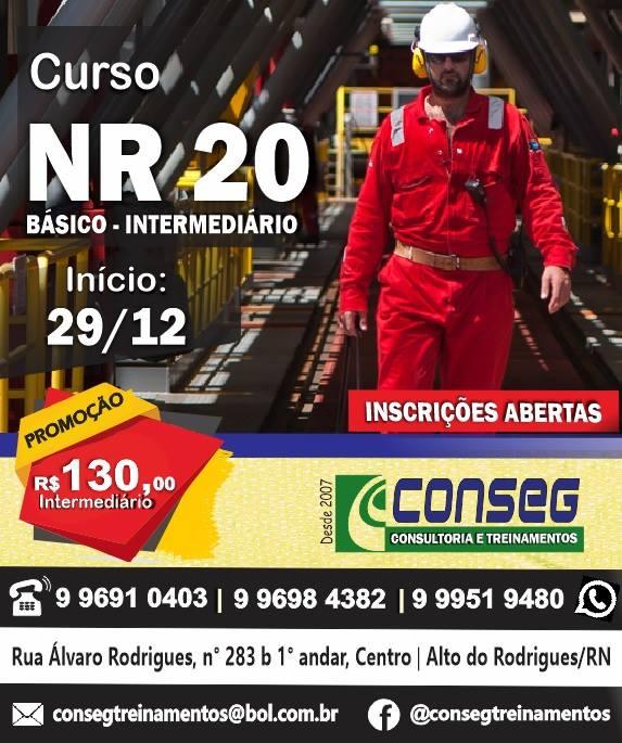 Curso NR-20 na CONSEG