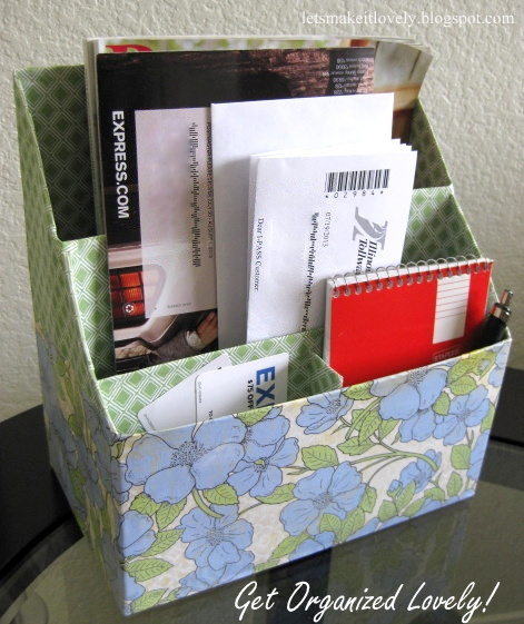 DIY Mail and Magazine holder