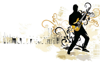 Abstract people play guitars wallpapers - Music wallpaper