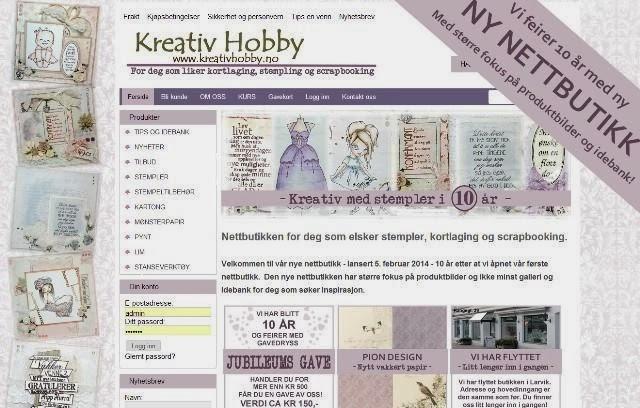 Velkommen til Kreativ Hobbys nye nettbutikk