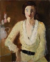 JOSEP MOMPOU Mujer con vestido amarillo 1932