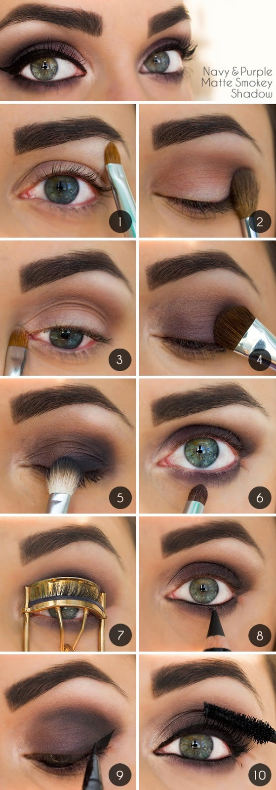 Eye Makeup Must-Try: Navy & Purple Smokey Eye