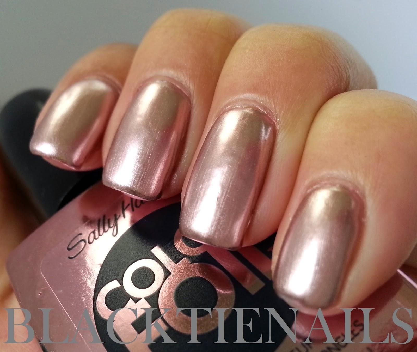 Sally Hansen Color Foil Rose Copper Swatch