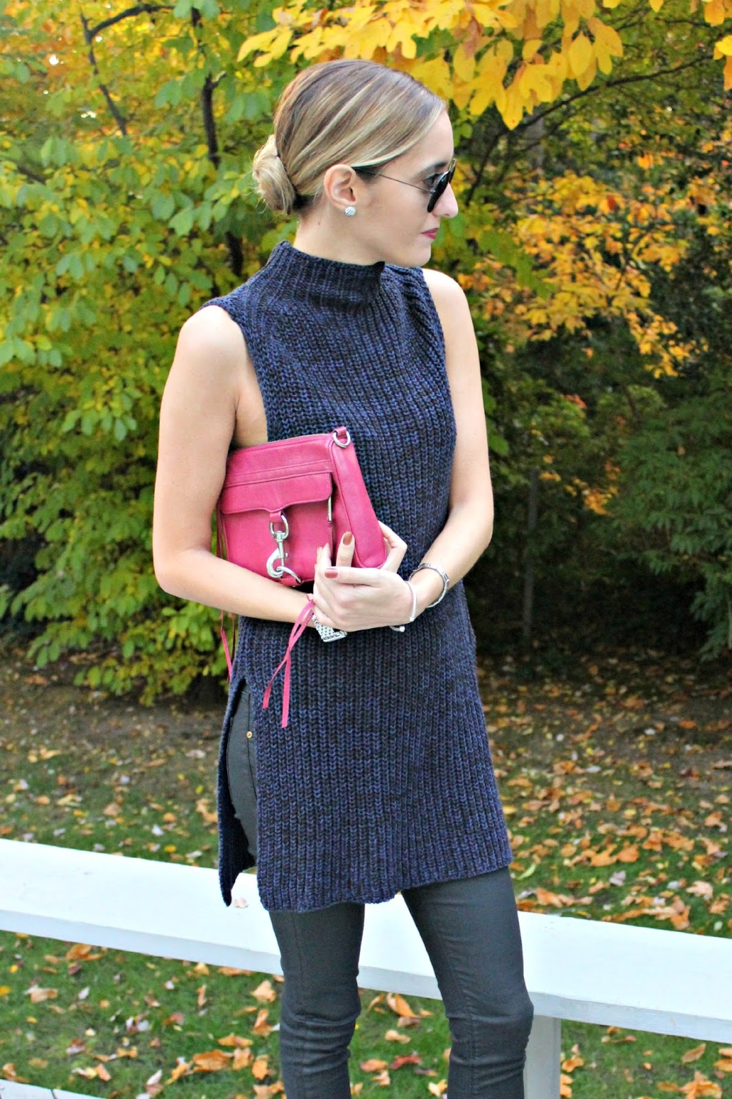 navy & black sweater