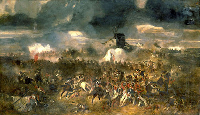 The Battle of Waterloo by Clément-Auguste Andrieux, 1852