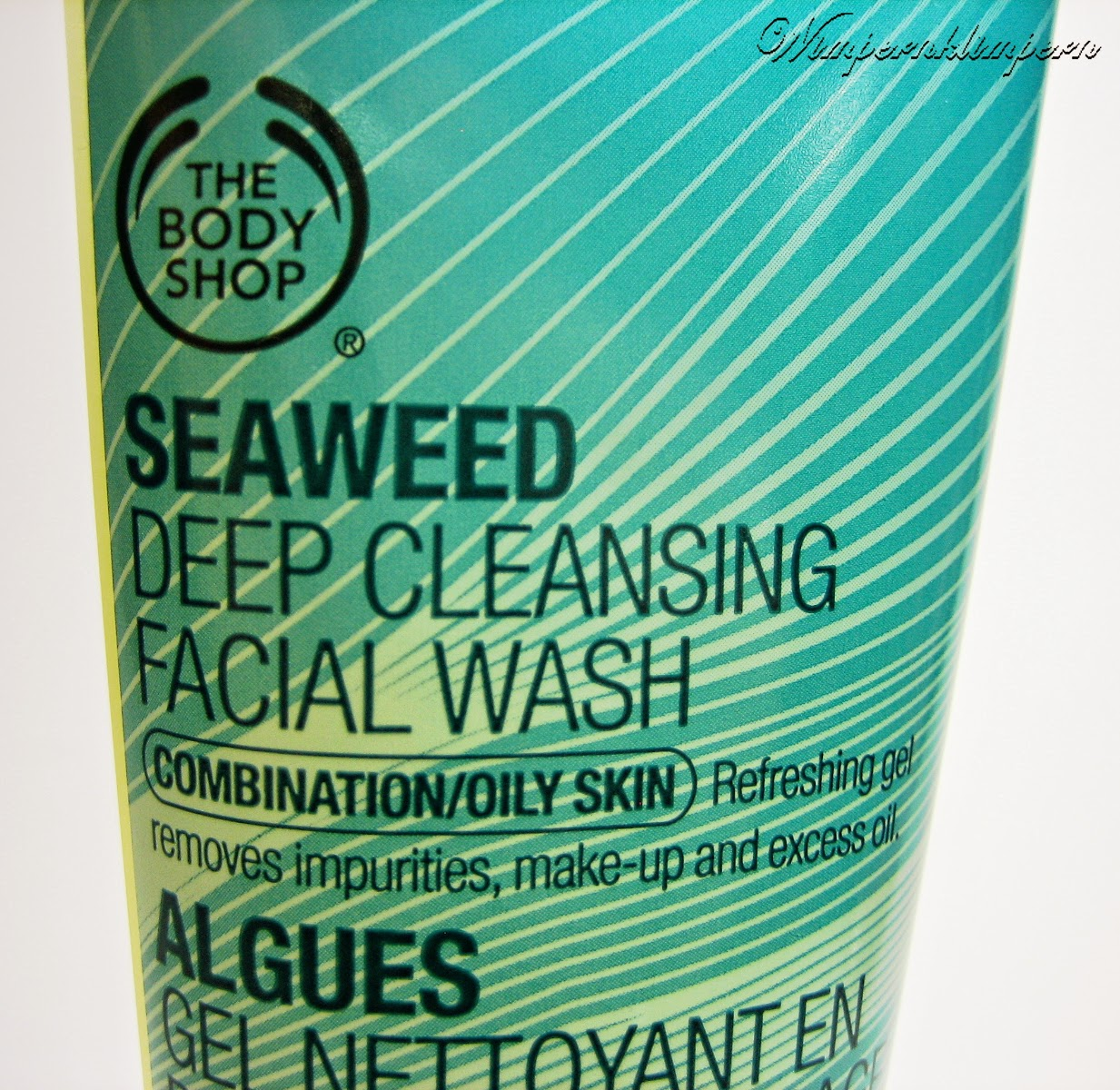 The Body Shop Seaweed Deep Cleansing Facial Wash Etikett