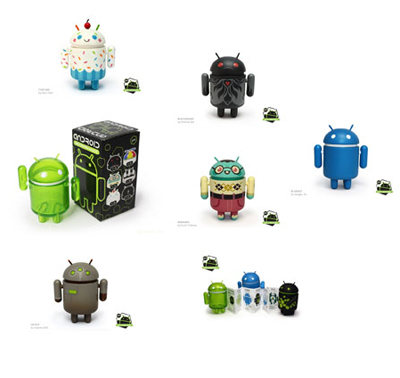 "3 x eine Figur aus ""Android Collectible Mixed Series 02"""