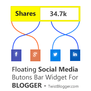Floating Social Media Buttons bar for Blogger