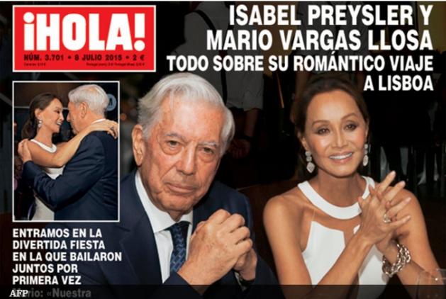 Mario Vargas Llosa confirmó su relación con Isabel Preysler