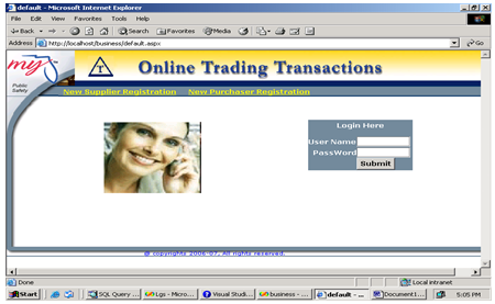 Online trading system project description
