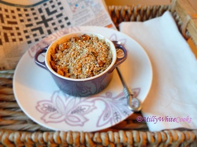 Gluten-Free Apple & Fig Breakfast Crumble