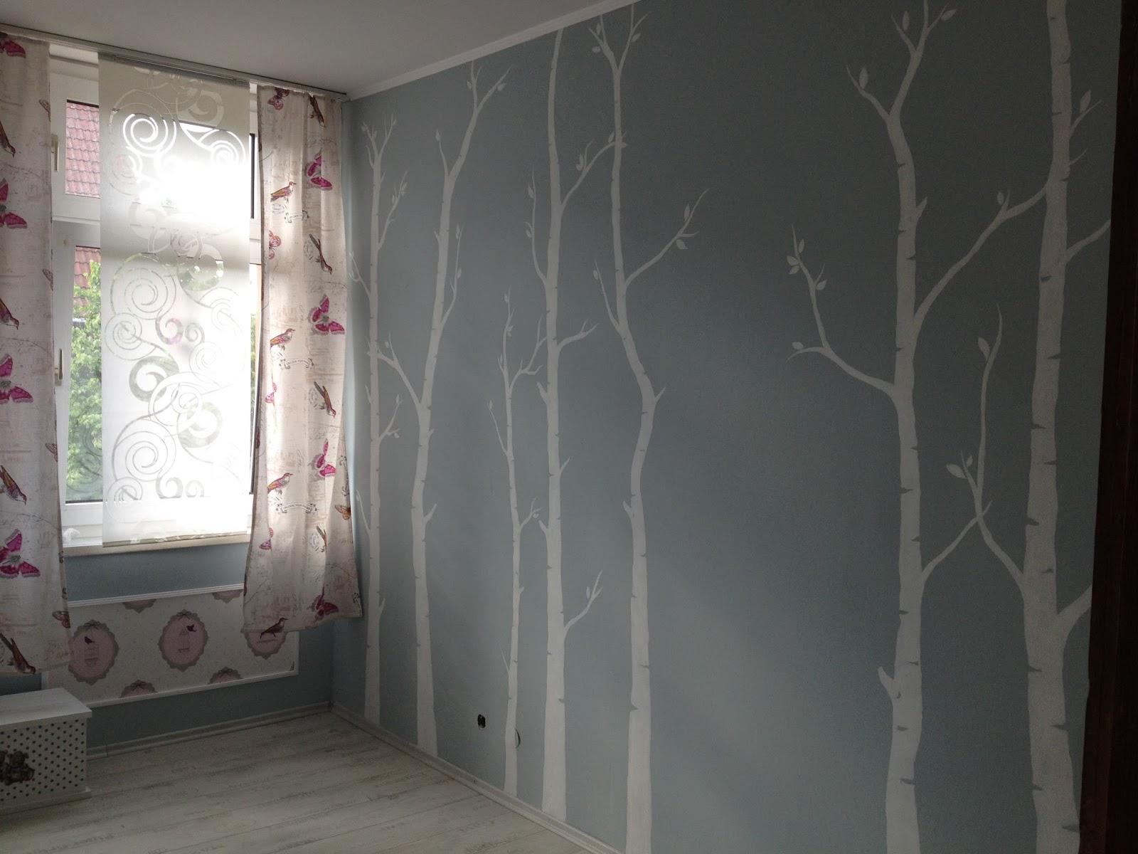 tapeten birken amped for. Black Bedroom Furniture Sets. Home Design Ideas