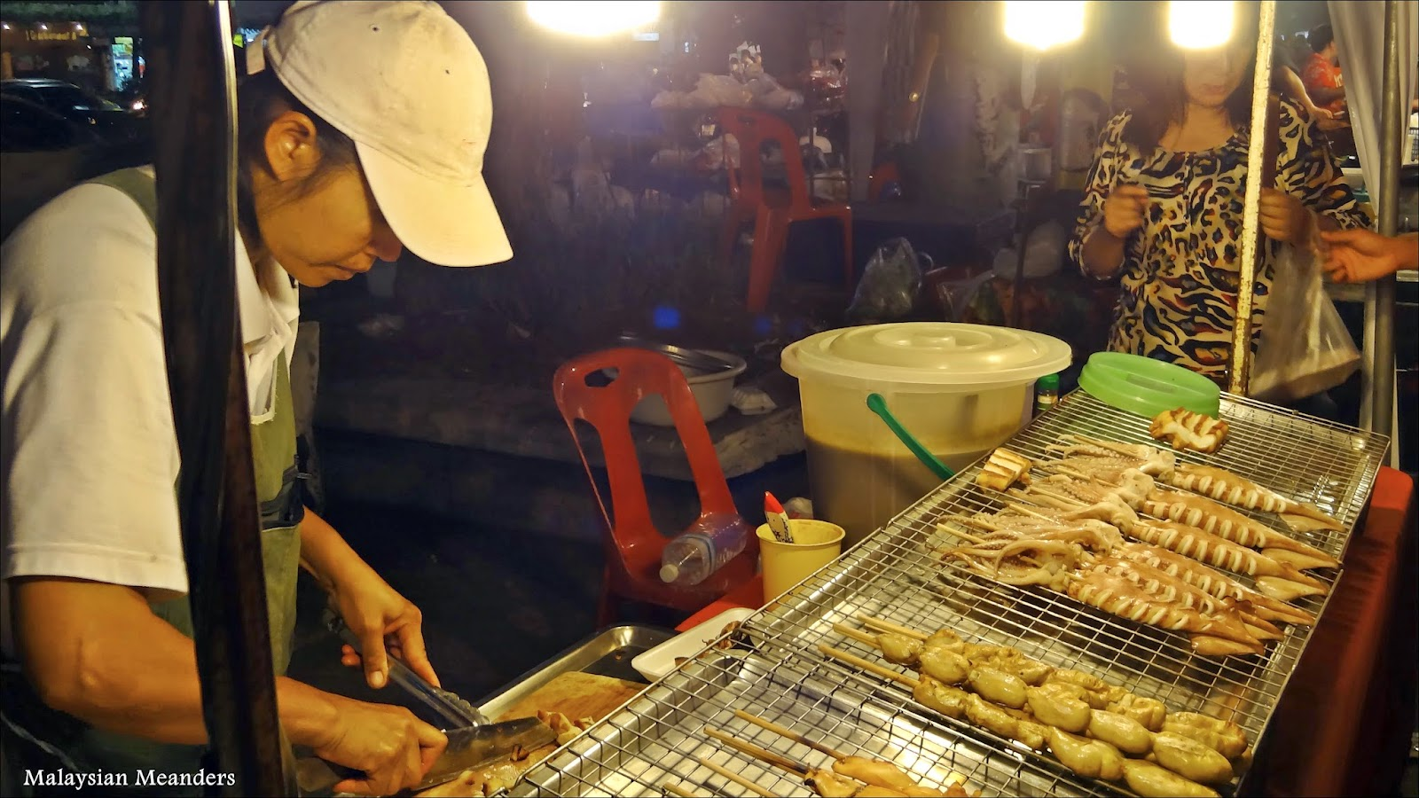 Delicious food at the Chiang Mai night market, photo courtesy Malaysian Meanders