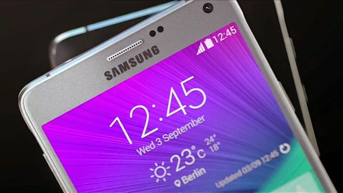 The screen of the Galaxy Note 4, the best from Samsung