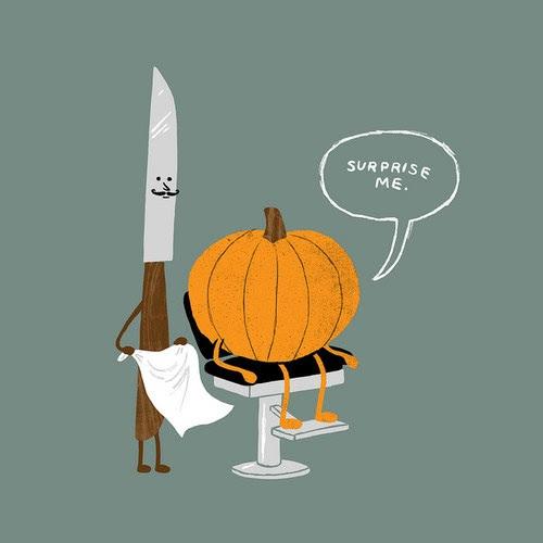 halloween, barber, pumpkin
